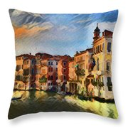 Venice A8-1 Throw Pillow