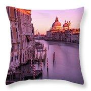 Venice At Its Best Throw Pillow by Susan Leonard