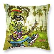Venice Beach Rasta Roller Throw Pillow