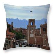 Venice Bridge Throw Pillow