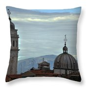 Venice Tower And Dome Throw Pillow