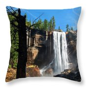 Vernal Fall, Yosemite National Park Throw Pillow
