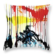 Vertical Sunset Throw Pillow