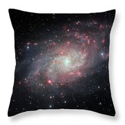 Very Detailed View Of The Triangulum Galaxy Throw Pillow