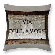 Via Dell'amore Throw Pillow