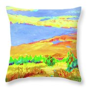 Vibrant Landscape  Throw Pillow