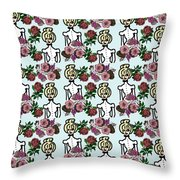 Victorian Girl Blue Throw Pillow