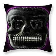 Watchman, Sugarskull Of Passing Time Throw Pillow