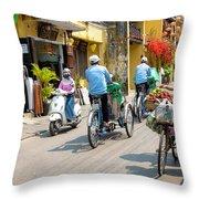 Vietnam Street Throw Pillow