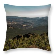 View From Flattop Mountain Trail Throw Pillow