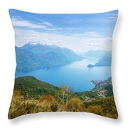 View From Rifugio Menaggio Lake Como Italy Throw Pillow