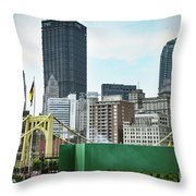View From The Stadium Throw Pillow