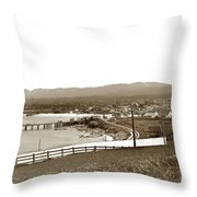View Looking Southeast To The Harbor From The Site Of El Castill Throw Pillow by California Views Archives Mr Pat Hathaway Archives