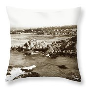 View Looking Towards Lovers Point From Otter Point Pacific Grove Throw Pillow by California Views Archives Mr Pat Hathaway Archives