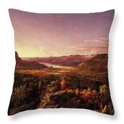 View Of Greenwood Lake, New Jersey Throw Pillow
