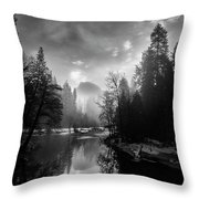 View Of Half Dome II Throw Pillow