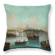 View Of Istanbul - 1 Throw Pillow