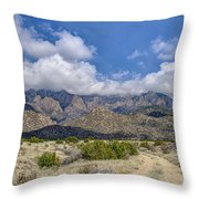 View Of Sandia Mountain Throw Pillow