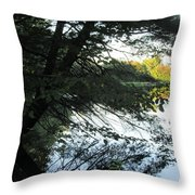 View Of The Lake Through The Branches Throw Pillow