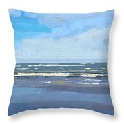 View Of The Texas Gulf Throw Pillow