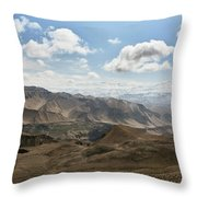 View Of The Village Of Marang From Mui Throw Pillow