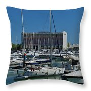 Vilamoura Marina 4 Throw Pillow
