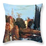 Villa By The Sea 1878 Throw Pillow