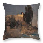 Villa By The Sea Throw Pillow
