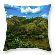 Villa De Cura Throw Pillow