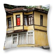 Village Center Structure One Throw Pillow