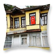 Village Center Structure Two Throw Pillow