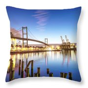 Vincent Thomas Bridge Throw Pillow