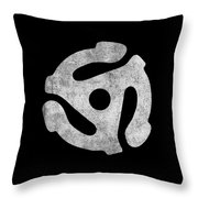 Vintage 45 Rpm Record Adapter Throw Pillow