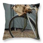 Vintage Bicycle World War II  Throw Pillow