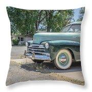 Vintage Car Chevy Fleetmaster Throw Pillow