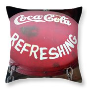 Vintage Coca Cola Sign Asia Throw Pillow