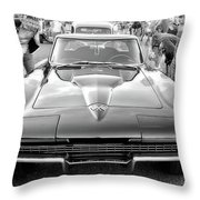 Vintage Corvette Throw Pillow