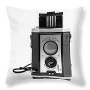 Vintage Eastman Kodak Brownie Reflex Synchro Model Film Camera Throw Pillow