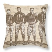 Vintage Football Heroes Throw Pillow by Clint Hansen