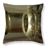 Vintage Glass Throw Pillow