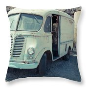 Vintage International Harvester Metro Delivery Van Throw Pillow