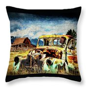 Vintage Throw Pillow by Mark Allen