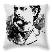 Vintage Newspaper Wyatt Earp Portrait 1896 - T-shirt Throw Pillow