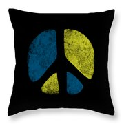 Vintage Peace Sign Throw Pillow