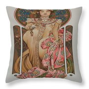 Vintage Poster - Champagne Throw Pillow