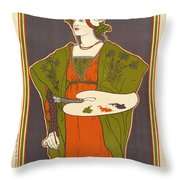 Vintage Poster - Louis Rhead Throw Pillow