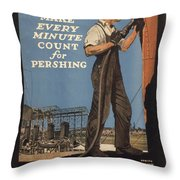 Vintage Poster - Make Every Minute Count Throw Pillow