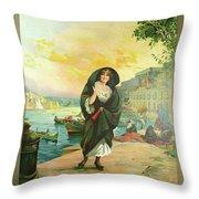 Vintage Poster - Malta Throw Pillow