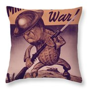 Vintage Poster - Mr. Peanut Goes To War Throw Pillow