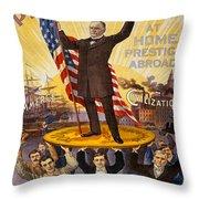 Vintage Poster - William Mckinley Throw Pillow